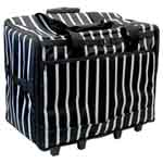 VIVACE Extra Large Sewing Machine Tote - Black Stripes - 61 x 45 x 31cm 3025915