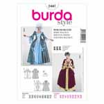 BURDA - 2447 White Costume Ladies - Historical