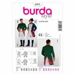 BURDA - 2471 Costume Mens-Napoleon