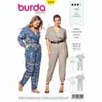 Stylish from head to toe. A jumpsuit with elastic at the waist, and pleats to give it a lovely loose fit. Sporty details like roll-up sleeves and patch pockets add pep to the mono colour scheme. View B creates summer feeling with bright prints.