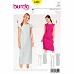 Dresses for every figure type with slimming panel seams, a flattering round neckline and back vent. View A has slightly over-cut shoulders. View B has small cap sleeves. Piping in a contrasting color highlights the seams.