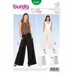 Summer pants/trousers in two lengths, wonderfully airy and comfy. Pleats at the upper edge of view A take in the casual width and are held with snap fasteners. A cord at the waist of view B gathers the garment to fit.