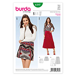 BURDA - 6597 Ladies Skirt