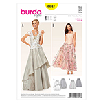 BURDA - 6647 Ladies Skirt