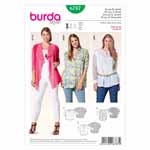 BURDA - 6787 Ladies Top/Jacket - Plus