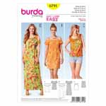 BURDA - 6791 Ladies Dress - Top Young