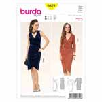 BURDA - 6829 Ladies Dress Evening