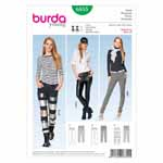 BURDA - 6855 Ladies Pants Young