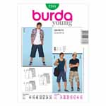 BURDA - 7381 Mens Shorts