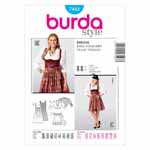 BURDA - 7443 Costume Ladies Folklore