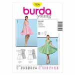 BURDA - 7556 Ladies Dress