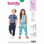 Trousers/pants for boys and girls in two lengths - both without a center seam. The loose fitting crotch, elastic drawstring waistband, and stretchy fabric ensure plenty of room to move for active kids.