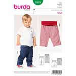 Super comfortable – pants in two lengths to roll up, with an elastic waist, darts at the knees and back panel seams. Both sport hip yoke pockets and back patch pockets. There is also a mock fly front opening.