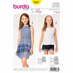 Chic sleeveless top or summer dress, quick and easy to sew. Both have a slit at the back and are fitted to your little girl's figure with elastic shirring.