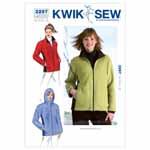 The Misses' jackets are designed for heavyweight stretch knits.  We suggest berber fleece or heavy fleece. The Misses' zip-front jackets have side panels and pockets in the front panel seams.  The side panels and facings are from a contrast fabric.  View A: has a stand-up collar and View B: has a hood.