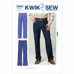 Designed for medium weight woven fabrics. Suggested Fabrics: Denim, twill, corduroy.Men's jeans have fly zipper, waistband with belt carriers, back yoke, back patch pockets, front pockets, a coin pocket, and topstitching detail. View A legs are straight cut and View B are boot cut.