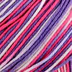 The cool, smooth comfort of cotton is blended with the lightweight bounce of acrylic to make a perfect year-round yarn. The tight twist gives great stitch definition in projects that won't sag out of shape. The range of bright solids and multi colours is great for baby or adult garments and accessories. 290m (317 yds) and 100 g (3.5 oz). 52% Cotton, 48% Acrylic. Cool iron. Machine Washable. Dry clean any solvent except Trichloroethylene.  The recommended knitting needle is 3.5mm (US 4): 23 sts & 29 rows =  4″ (10.2cm) in ST st. The recommended crochet hook is 4mm (US size G-6) : 18 sc & 20 rows = 4″ (10.2cm). Remember to ALWAYS check tension/gauge before beginning your project.