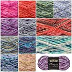 "Taste Pack includes 2 balls each of 11 colours for a total of 22 balls. Toasty warm socks, soft sweaters, and beautiful variegated shawls all look gorgeous in decadently soft Angora Lace. 422m (462yds) and 100g (3.5oz). 50% Fine Merino Superwash, 20% Angora, 30% Nylon. Machine wash warm, dry flat. The recommended knitting needle is 2.75mm (US size 2) = 26 sts x 36 rows = 10cm (4"") in ST st. The recommended crochet hook is 3.75mm (US size F-5) = 23 sc x 30 rows = 10cm (4""). Remember to ALWAYS check tension/gauge before beginning your project."
