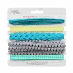 Each card of Unique Creativ ribbons combines 5 hanks of 2m each of colour-coordinated ribbons and trims. This fun assortment is perfect for general crafting, small home decor projects, parties, gift wrapping and children's crafts. The ribbons are high quality textile and can be used in sewing projects as well.