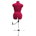 Produce a professional look every time ! Shaped hips, bottom and thighs for pants/trouser fitting. Durable construction and lightweight. 1-piece stand for easy assembly and better stability with Simple and accurate size adjustments including adjustable height. 100% nylon foam backed covering.