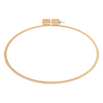 This large oval wooden hoop is the perfect size for hand quilting. Brass set screw does not corrode and helps keep fingers clean when working with fine fabrics.