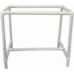 "This GRIPtight<sup>TM</sup> quilting frame is the perfect size for holding batting and fabric layers. The 39&quot; x 30&quot; x 32-38"" frame is made of light weight PVC tubing is easy to assemble. Height adjusts from 32&quot; to 38&quot;. Adjustable legs let you tilt one side of the frame, making it easy to reach the centre of your work. Stores compactly."