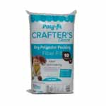 "Crafter's Choice® ""Dry"" polyester fiber fill is the perfect choice for stuffing collectible-style dolls and bears. This polyester fiber fill has not been treated with silicone so the fiber has a coarse texture that packs firmly, allowing you to stuff it into small spaces with a stuffing tool without the fiber ""popping"" out of place. A coarse dry fiber that stays in place. Easy to pack in small spaces Non-allergenic. Unconditionally guaranteed. Care: Machine wash on gentle with warm water. Air dry or tumble dry on air or low heat setting. Fiber may shift during laundering. Gently massage the project with fingertips to move the fiber back into place."