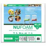 "Poly-Fil NuFoam® is a safe alternative to conventional foam that is made from densified polyester batting. It is mildew resistant, and won't yellow or disintegrate. It's perfect for chair cushions, deck furniture, camping, futons, crib bumpers, playpen mats, recreational vehicle accessories and more. Made from compressed layers of 100% polyester that range from 1"" to 4"" thick. NuFoam® works best for occasional seating as it will compress over time. Use NuFoam that is 1"" thicker than your intended cushion to allow for compression. It will be a snug fit inside the cover. Resists mildew and is non-allergenic. Unconditionally guaranteed. Care: Hand wash, air dry."