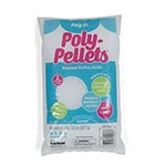 Poly Pellets® is 100% polypropylene weighted stuffing material that adds the flexibility necessary to shape soft crafts into lifelike positions. Contoured oval shaped pellets have smooth edges that allow for uniform fi lling. Use to create posed dolls and decorative crafts. May be used alone or with Poly-Fil® polyester fiber. Non-toxic. Care Instructions: Hand or machine wash on gentle cycle in warm water with mild detergent. Air dry or low heat setting.