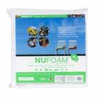 "Poly-Fil® Nu-Foam® is a safe alternative to conventional foam that is made from densified polyester batting. It is mildew resistant, and won't yellow or disintegrate. It's perfect for chair cushions, deck furniture, camping, futons, crib bumpers, playpen mats, recreational vehicle accessories and more. Made from compressed layers of 100% polyester. Poly-Fil® Nu-Foam® works best for occasional seating as it will compress over time. We recommend using Nu-Foam® that is 1"" thicker than your intended cushion to allow for compression. It will be a snug fit inside the cover. Care Instructions: Hand wash and air dry."