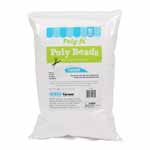 Poly-Beads<sup>TM</sup> are great for crafts and a variety of small projects. These resilient polystyrene foam beads are perfect for making floam and slime, stress balls, bean bag toys, holiday decorations and snow, and kids' science experiments. Virgin 100% expanded polystyrene beads. Approximate size is 1/8″ diameter.