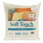 Classic Comfort - Everyday Design. Soft Touch® luxury pillow inserts have the look and feel of down and are one ofthe best sellers among crafters and home designers. They are filled with 100% recycled polyester fiberfill and feature a 95% polyester, 5% cotton, 200-thread count, high quality cover. Achieve professional results. Superior quality guaranteed. Care Instructions: Washable on gentle cycle in warm water with mild detergent. Air dry or dry in dryer on air or low heat setting. Add dryer balls to keep pillows fluffy.