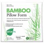 Enjoy long lasting beauty with these earth-friendly pillow inserts filled with 100% rayon fiber made from bamboo. The 100% cotton cover and their unique filling give these pillow inserts a uniquely soft, silky texture. These pillows make a great addition to any home.