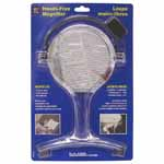 The 4 inch magnifying lens is 1.5x magnifications and has a 4x bifocal insert. The braces and the adjustable cord stabilize the lightweight magnifier against your chest making it ideal for sewing, needlework, knitting and crochet, crafts & hobbies and reading.