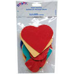 Bag includes heart shaped foam pieces in a variety of colours and sizes - 8 g.