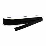 "A general all purpose elastic. Excellent ""stretchability."" Narrows when stretched. Avoid stitching through. Use in a casing for waistbands, sleeves and necklines. Black."