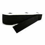 Belting elastic. Can be sewn directly to garment or used in a casing. Use for waistbands, cuffs, and sleeves, or with a buckle to create a belt.