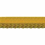 A decorative cording that can be inserted into a seam or used as trim or edging in sewing projects, home décor furnishings, garments, crafts, and in any place where embellishing is desired. 100% Polyester. Permanent press 30C, no bleach, tumble dry low, iron low, petroleum solvent only.