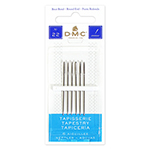 "DMC Tapestry Needles are 1 <sup>3</sup>⁄<sub>4</sub>"" – 2"" long and made of premium grade nickel plated steel. DMC Art. 1767/6."