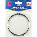 "This large Metal Craft Ring helps to organize thread and bobbins for needlework projects. Use the ring to sort and store craft materials or use as a base for creative craft activities. Each package contains one Metal Craft Ring (3"" diameter). DMC Art. 6111/6."