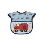 "Each bib features a fun and unique firetruck design that will compliment the heart-warming stitching to make for a special gift. Bibs are 100% cotton and feature a 14 count aida fabric pocket that measures 4.75"" x 8.25"". Hook & loop closure. A FREE design is included allowing stitchers to personalize each bib to give as a gift or to keep for their own child."