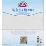 DMC Water Soluble Canvas is an innovative clear canvas that allows you to stitch a design on to almost any fabric. Soluble Canvas is perfect for customizing home décor items such as cushions and pillows, as well as almost any clothing garment. The 14-count Soluble Canvas is used in exactly the same way as Aida when stitching. Choose a design, tack the canvas to the item or material and cross stitch as usual. lace the finished design in a bowl of hot water and the canvas disappears leaving you with a customized unique piece of clothing or home décor item!