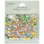 Nickel plated mild steel in a blister pack. Coloured plastic heads for easy visibility. Assorted colours.