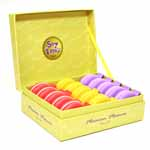 Freshly baked, cute macaroon style 150cm / 60&quot; retractable tape measure. They are nicely presented in a box and available in Pink, Yellow and Purple. 17.8 x 14.6 x 17.8cm (7&quot; x 5<sup>3</sup>&frasl;<sub>4</sub>&quot; x 7&quot;)