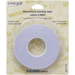 Multi purpose temporary 2-way tape for home sewing, craft and embroidery! Transparent; disappears after washing. Will not gum up your needle when sewn through. Use for: basting, binding and hemming, stabilizing stretch and slippery fabrics, matching plaids. Holds trims and appliqués in place while stitching.