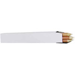 "Wooden pencils with thick ""lead"" for quilting designs. White."