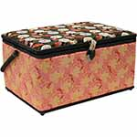 VIVACE Large Rectangular Sewing Baskets offer an ideal solution for your storing needs. Complete with a built-in pin cushion, handy elasticized pouch, and removable plastic tray, this organized basket has a place for everything. Its magnetic snap closure and large handle allow for quick and easy transport while the built in feet suit a stationary set-up. Available in a variety of fresh prints and vibrant colours, you are sure to find a basket that suits your style.