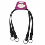Micro fibre black bag straps with 25mm ring. - 2pcs