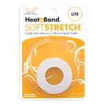 HeatnBond Soft Stretch<sup>TM</sup> Lite is a sewable, permanent, lightweight iron-on web adhesive specially designed to move with your stretch fabric while maintaining a strong bond! There is no added bulk and maintains a soft hand after fusing. Great to use with appliques, knits, stretch denim, spandex, jersey fabrics, fleece and flannel. Machine wash cold delicate cycle and tumble dry on low heat or no heat. Dry Cleanable. Avoid repeated or excessive ironing to the area after fusing. 16mm x 9.1m (<sup>5</sup>&frasl;<sub>8</sub>&quot; x 10yd) tape.