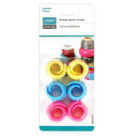 A fun and practical solution to stop thread from unraveling and tangling or becoming loose over time. Durable silicone rubber provides optimal flexibility. Suits most home sewing, quilting, and embroidery thread spools. Easy to use and reusable - will not damage or leave marks on your threads. 1 pack of 3 with one each of pink, blue and yellow.